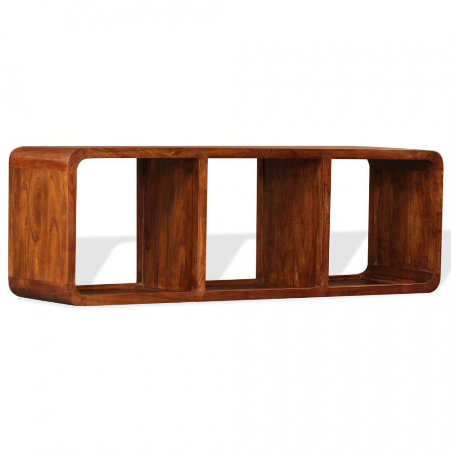 Szafka pod telewizor, drewno o wyglądzie sheesham, 120x30x40 cm kod: V-244680 + Z NAMI NIE RYZYKUJESZ