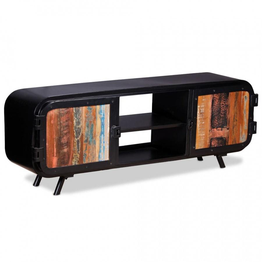 Szafka pod telewizor, drewno z odzysku, 120x30x45 cm kod: V-243981 + Z NAMI NIE RYZYKUJESZ