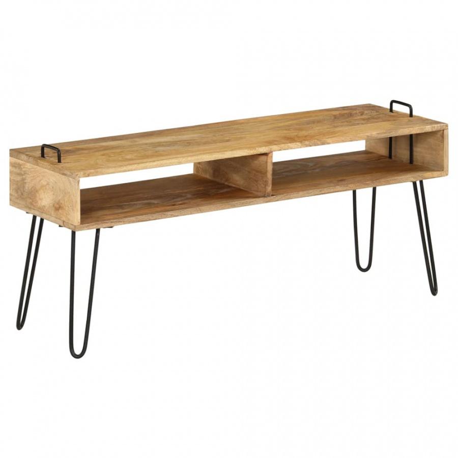 Szafka pod telewizor, lite drewno mango, 110 x 35 x 45 cm kod: V-246021 + Z NAMI NIE RYZYKUJESZ