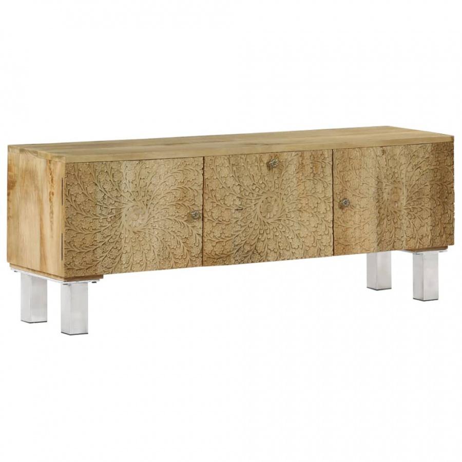 Szafka pod telewizor, lite drewno mango, 118 x 30 x 45 cm kod: V-246972 + Z NAMI NIE RYZYKUJESZ
