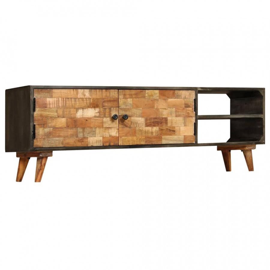 Szafka pod telewizor, lite drewno mango, 140 x 30 x 45 cm kod: V-246167 + Z NAMI NIE RYZYKUJESZ
