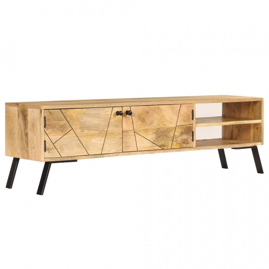 Szafka pod telewizor, lite drewno mango, 140 x 30 x 40 cm kod: V-246154 + Z NAMI NIE RYZYKUJESZ