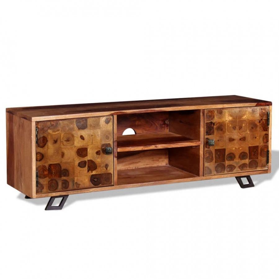 Szafka pod telewizor, lite drewno sheesham, 120 x 30 x 40 cm kod: V-243965 + Z NAMI NIE RYZYKUJESZ