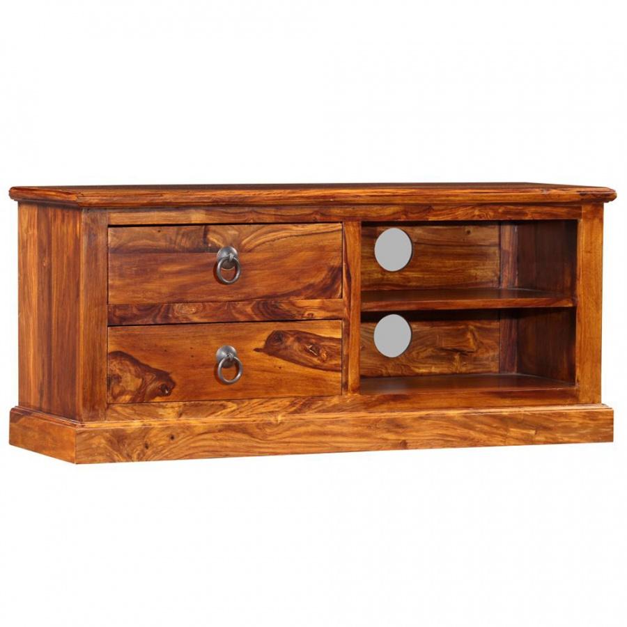 Szafka pod telewizor, lite drewno sheesham, 90 x 30 x 40 cm kod: V-245160 + Z NAMI NIE RYZYKUJESZ