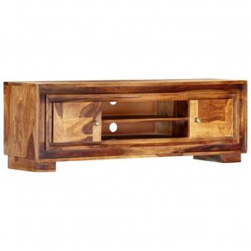 Szafka pod TV, 118x30x40 cm, lite drewno sheesham