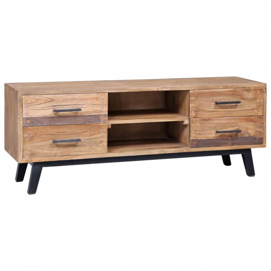 Szafka pod TV, 120 x 30 x 45 cm, lite drewno tekowe kod: V-285312 + Z NAMI NIE RYZYKUJESZ