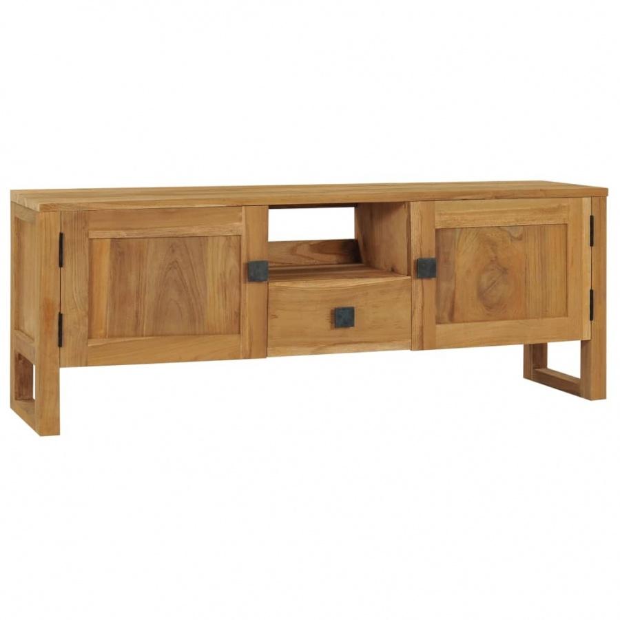 Szafka pod TV, 120 x 32 x 45 cm, lite drewno tekowe kod: V-288845 + Z NAMI NIE RYZYKUJESZ