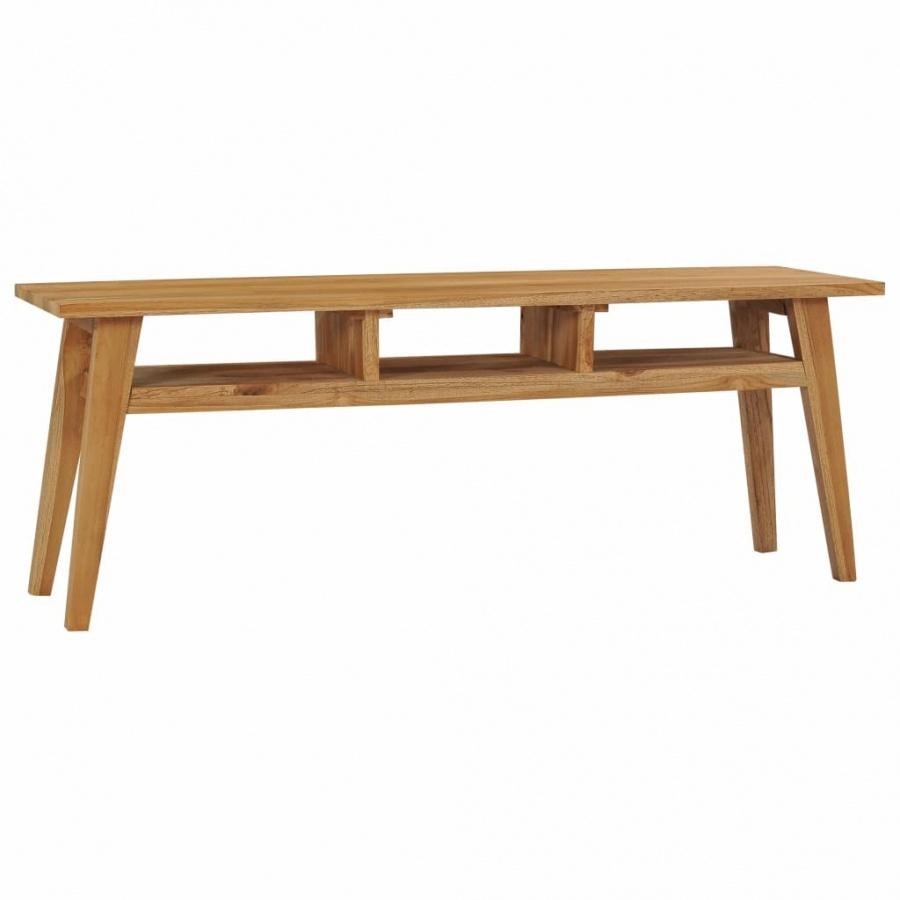 Szafka pod TV, 120x35x45 cm, lite drewno tekowe kod: V-288847 + Z NAMI NIE RYZYKUJESZ