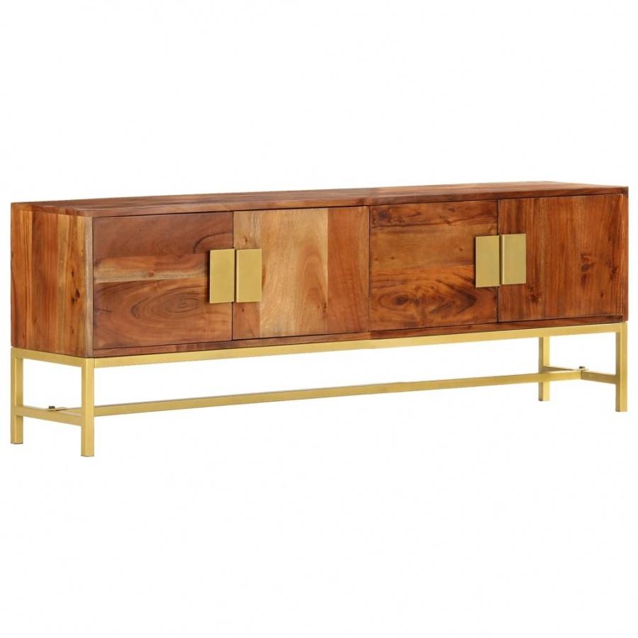Szafka pod TV, 140x30x50 cm, lite drewno akacjowe kod: V-285864 + Z NAMI NIE RYZYKUJESZ