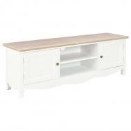 Szafka pod TV, biała, 120 x 30 x 40 cm, drewniana