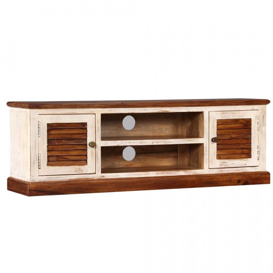Szafka pod TV, lite drewno Sheesham i mango, 120x30x40 cm kod: V-245153 + Z NAMI NIE RYZYKUJESZ