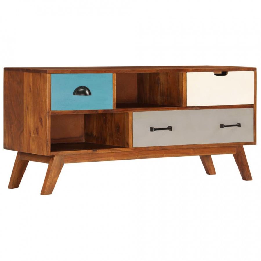 Szafka pod TV z 3 szufladami, 110x35x50 cm, drewno akacjowe kod: V-247936 + Z NAMI NIE RYZYKUJESZ
