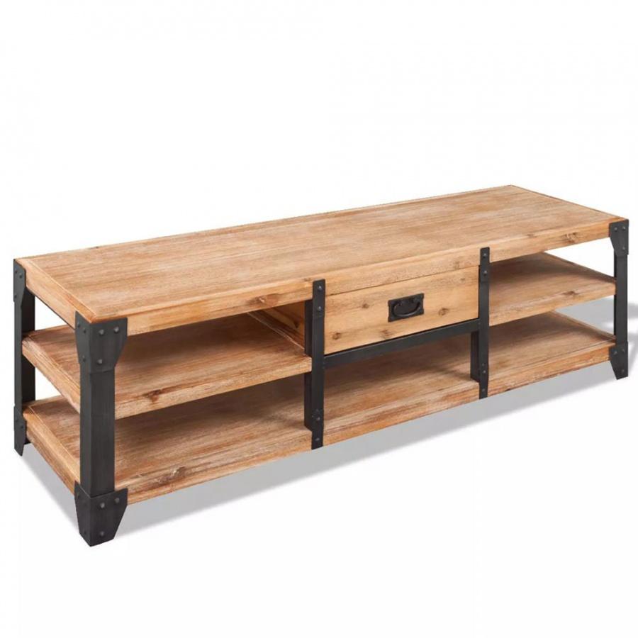 Szafka pod tv z drewna akacjowego 140x40x45 cm kod: V-243913 + Z NAMI NIE RYZYKUJESZ