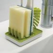 Szczotka do mycia naczyń z podstawką Joseph Joseph Edge biało-zielona 85007