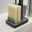 Szczotka do mycia naczyń z podstawką Joseph Joseph Edge szara 85008