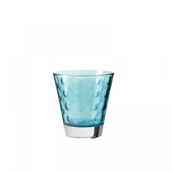 Szklaneczka 220 ml Leonardo Optic niebieska 017997
