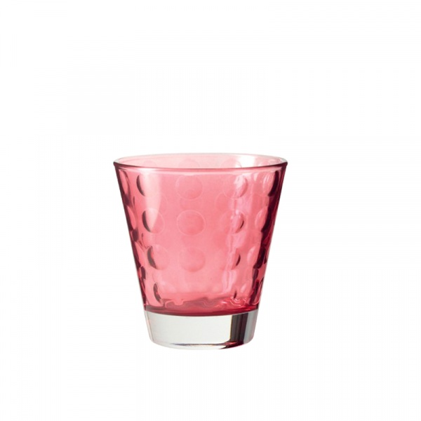 Szklaneczka 220 ml Leonardo Optic rubinowa 017989