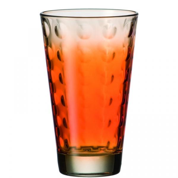 Szklanka 0,3 L pomarańczowa Leonardo Optic 049416