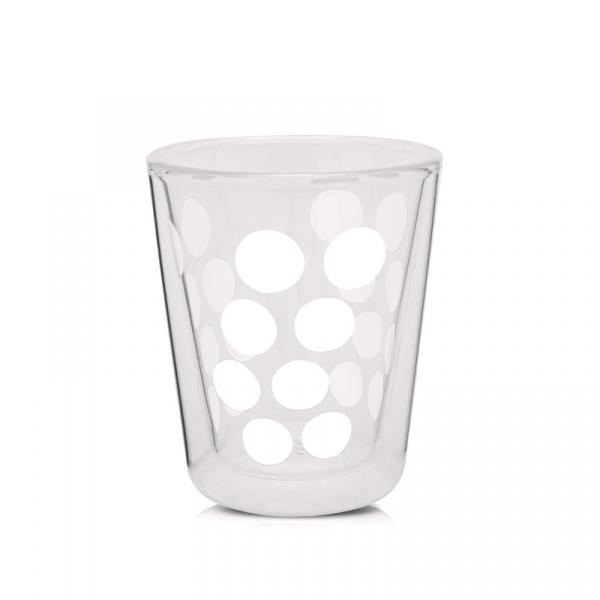 Szklanka 200 ml Zak! Designs Dot biała 1358-C420