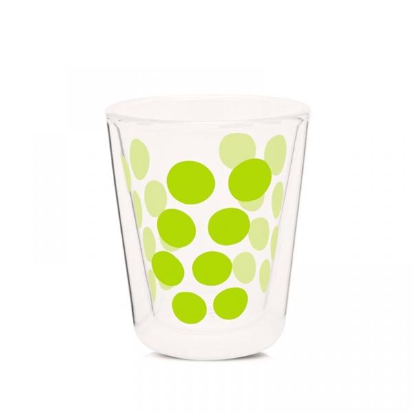 Szklanka 200 ml Zak! Designs Dot zielona 0989-C420