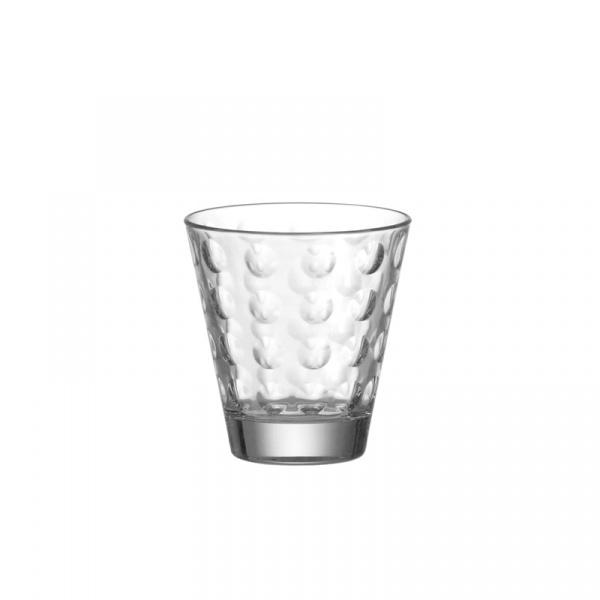 Szklanka niska 0,22 l Leonardo Optic przezroczysta 012683