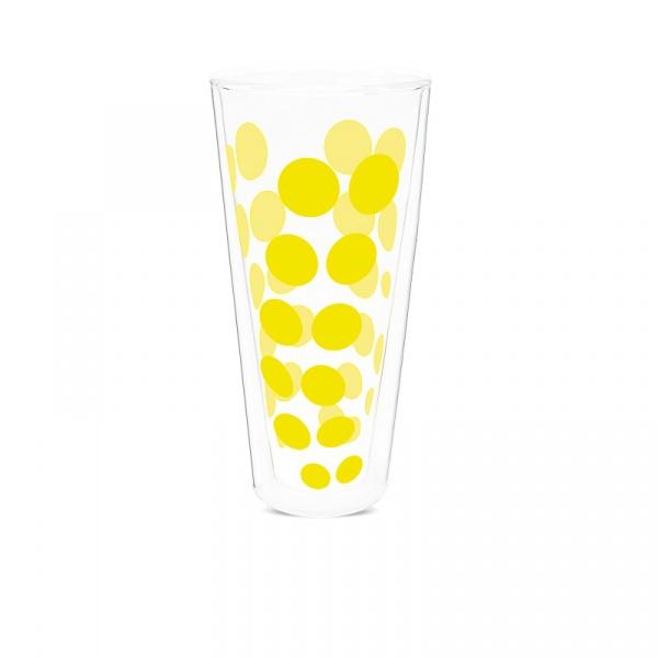 Szklanka wysoka 350 ml Zak! Design Dot żółta 2005-N310