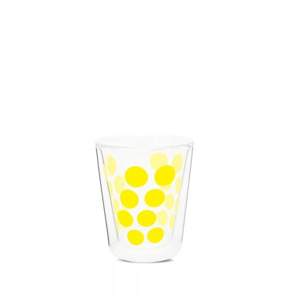 Szklanka z podwójnymi ściankami 200 ml Zak! Designs Dot żółta 2005-C420