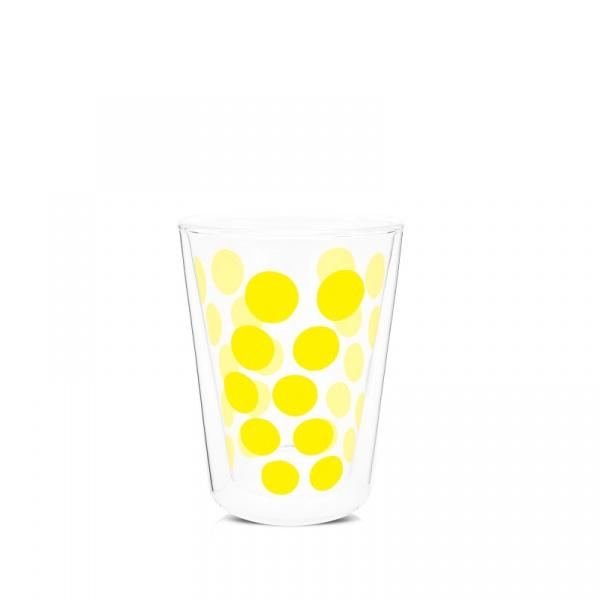 Szklanka z podwójnymi ściankami 350 ml Zak! Designs Dot żółta 2005-1221