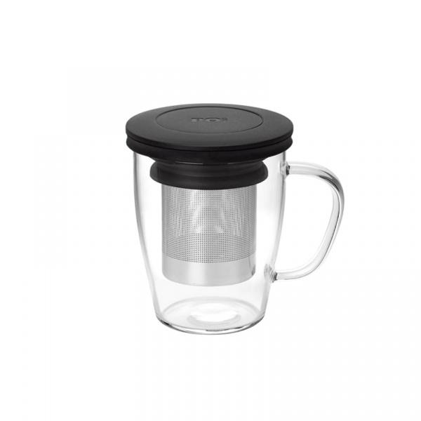 Szklanka z zaparzaczem 350 ml PO: Ming czarna 14756