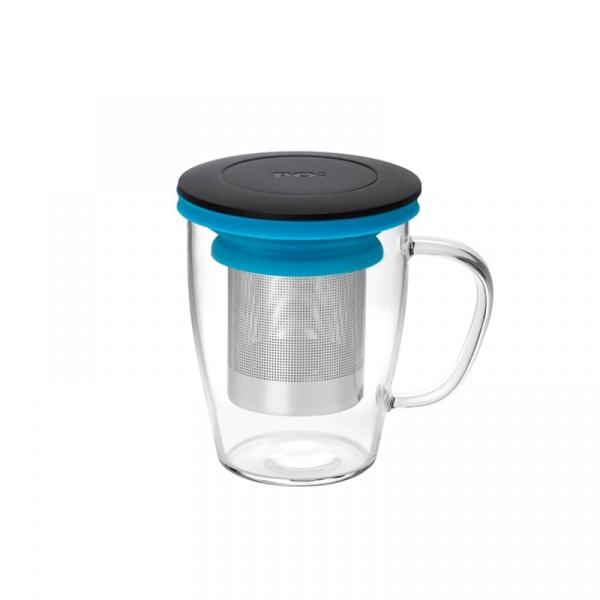 Szklanka z zaparzaczem 350 ml PO: Ming czarno-niebieska 14755