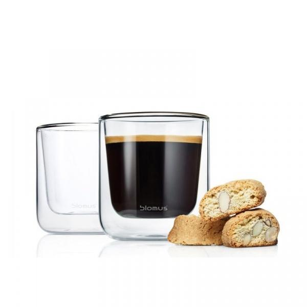 Szklanki do herbaty 0,2L 2szt Blomus Nero B63653