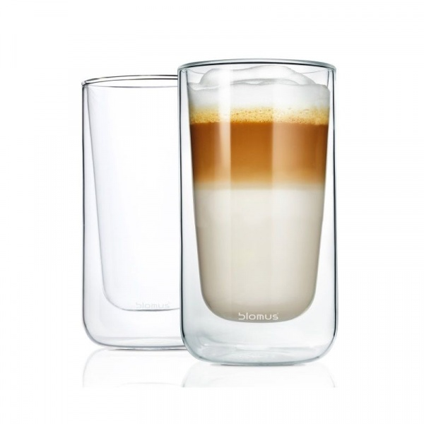 Szklanki do latte 0,32L Blomus Nero 63655