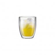 Szklanki termiczne 2 szt Bistro Bodum 0,45l przezroczysty
