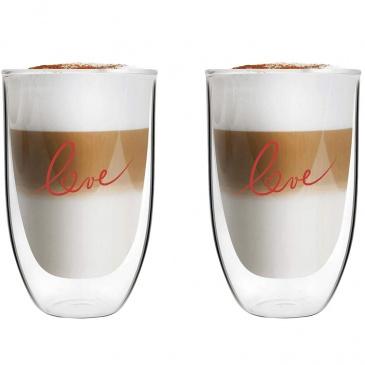 Szklanki termiczne 2szt do latte vita love