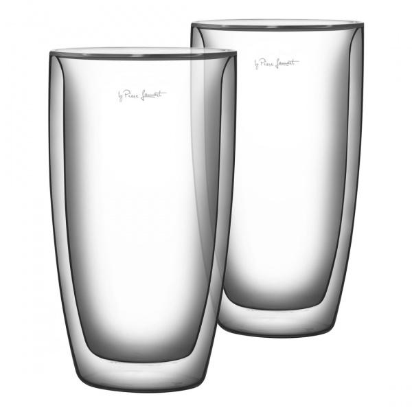 Szklanki termiczne do kawy 2szt. 380ml Lamart Vaso przezroczyste LT9011