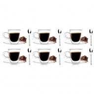 Szklanki termiczne espresso 6szt 50ml + 6 łyżeczek Gama
