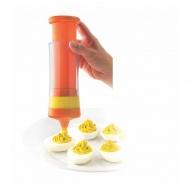 Szpryca do faszerowania jajek i robienia pasty MSC pomarańczowa