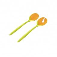 Sztućce do sałaty Zak! Design zielono- pomarańczowe