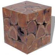 Taboret z drewna tekowego 40x40x45 cm