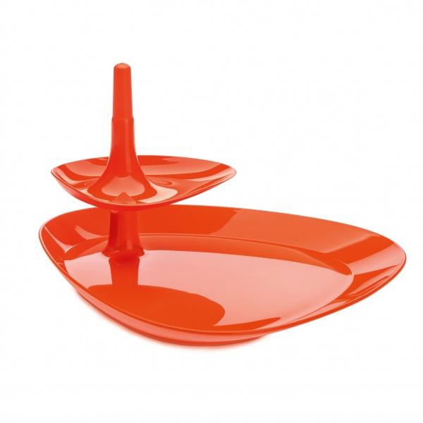 Taca na przekąski Koziol Betty pomarańczowo-czerwona KZ-3580633