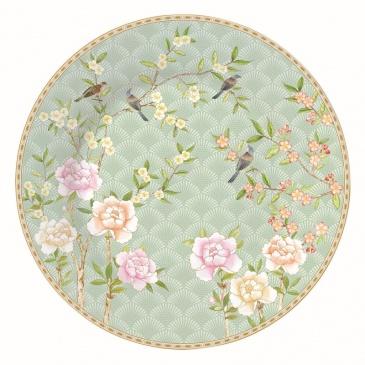 Talerz deserowy 19 cm Nuova R2S Palace Garden zielony