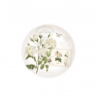 Talerz deserowy 19 cm Nuova R2S Romantic białe kwiaty