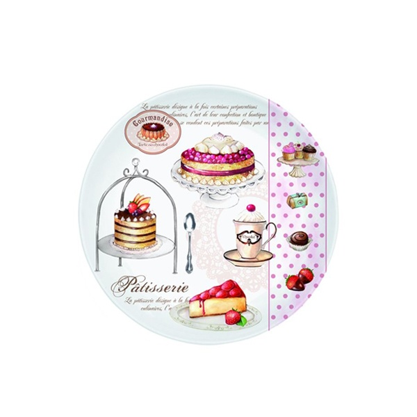 Talerz deserowy 19 cm Nuova R2S Romantic ciasta 324 PATI