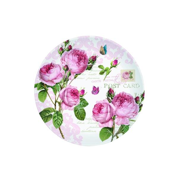 Talerz deserowy 19 cm Nuova R2S Romantic piwonie 324 RMR