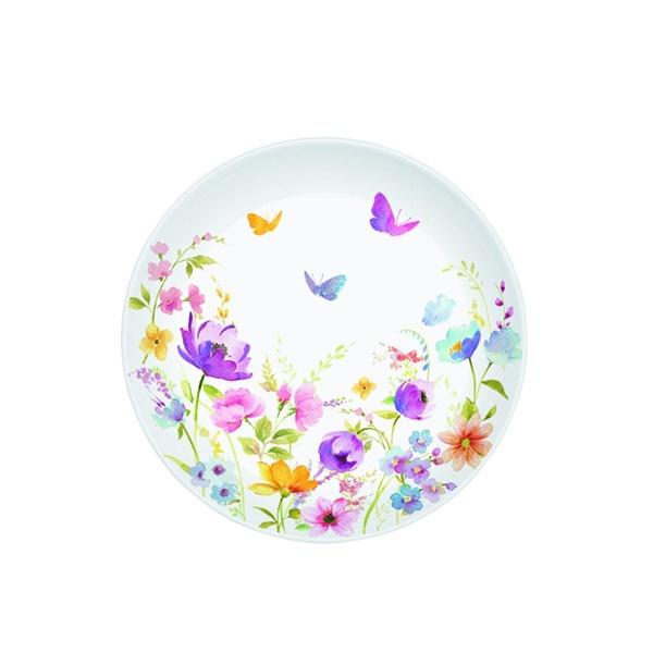 Talerz deserowy 19 cm Nuova R2S Romantic polne kwiaty 324 FLDC