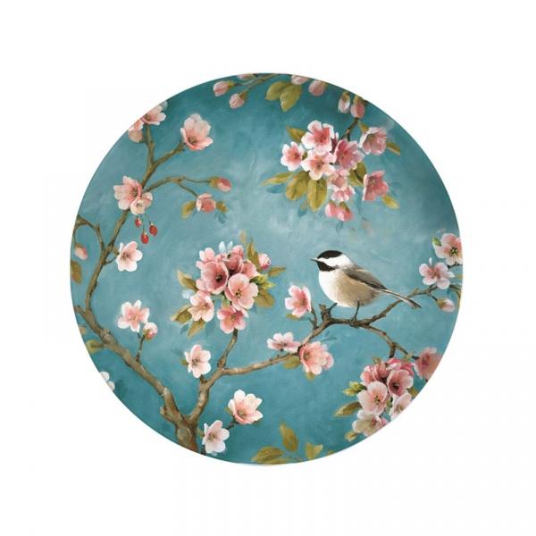 Talerz deserowy 19cm Nuova R2S Romantic niebieski 324 BLOS