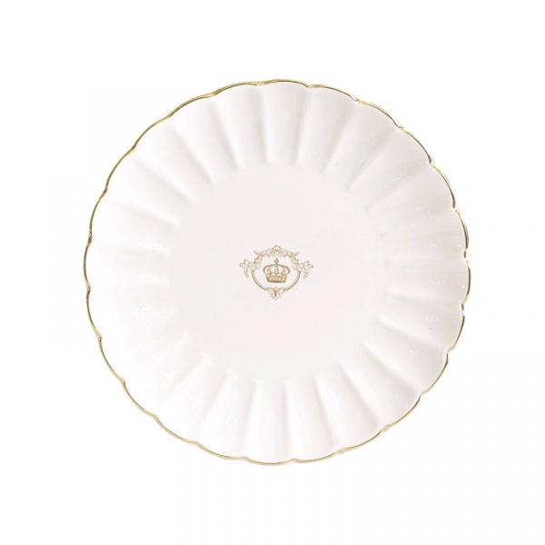 Talerz deserowy 19cm Nuova R2S Royale biały 1287 WITE