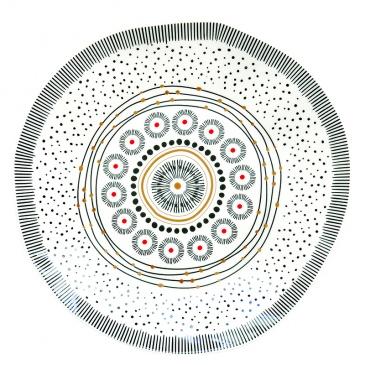 Talerz deserowy 21 cm Nuova R2S Organic
