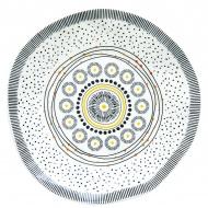 Talerz deserowy 21 cm Nuova R2S Organic żółty