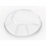 talerz do fondue, 28,5x22 cm, biały